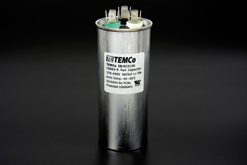 Dual Run Capacitor 40 5 Mfd Uf 370 440 V Vac Volts Ac
