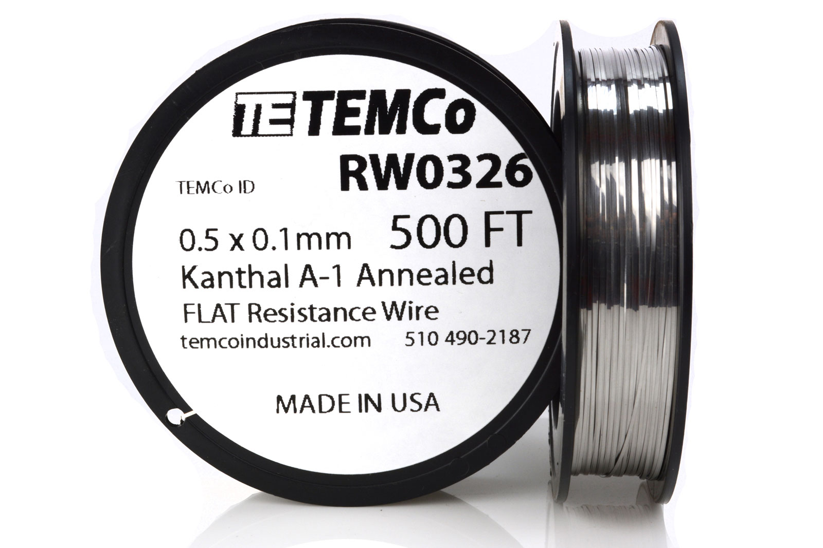 ribbon wire temco flat ribbon kanthal a1 wire 0 8mm x 0 1mm 50 ribbon wire temco flat ribbon kanthal a1 wire 0 5mm x 0 1mm 500 ft resistance a 1