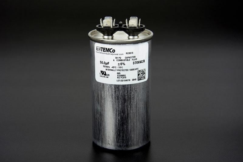 TEMCo 50 MFD uF Run    Capacitor    370 vac Volts AC Motor HVAC