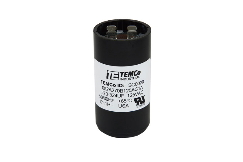 TEMCo 270-324 MFD uF Electric Motor Start Capacitor 110-125V HVAC ...