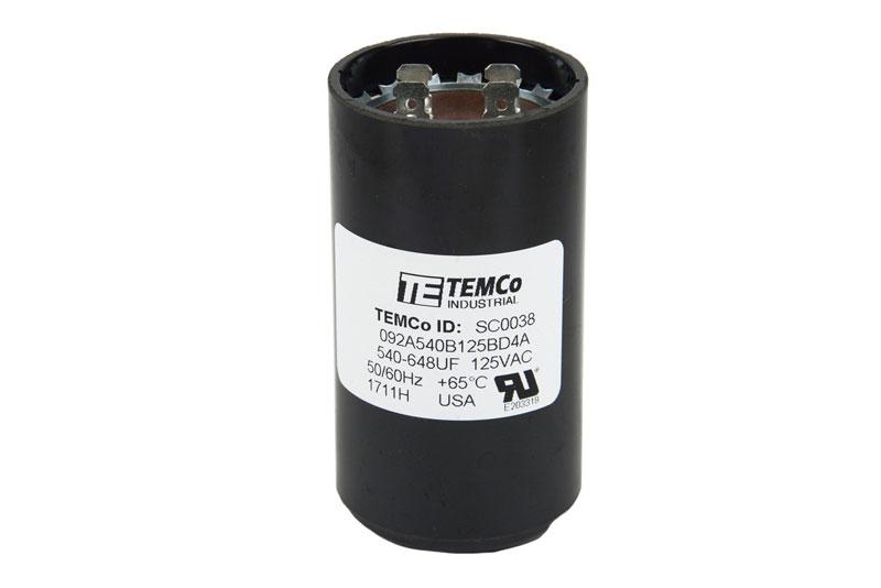 TEMCo 540-648 MFD uF Electric Motor Start Capacitor 110-125V HVAC ...