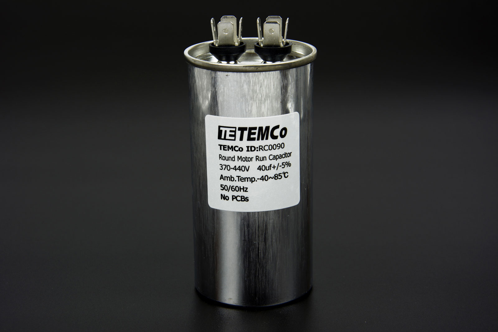 temco 40 mfd uf run capacitor 440 vac volts ac motor hvac