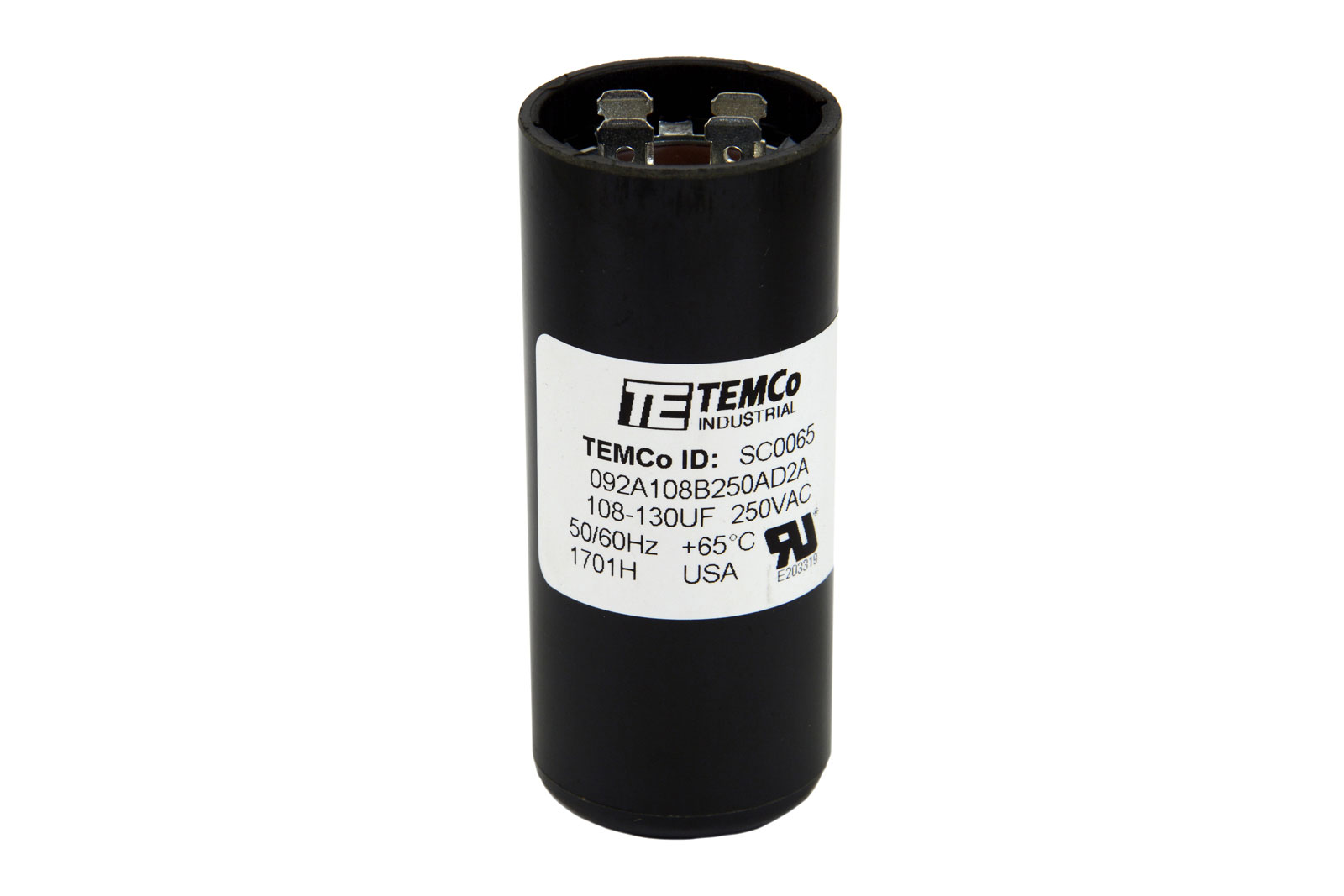 Temco 108 130 Mfd Uf Electric Motor Start Capacitor 220