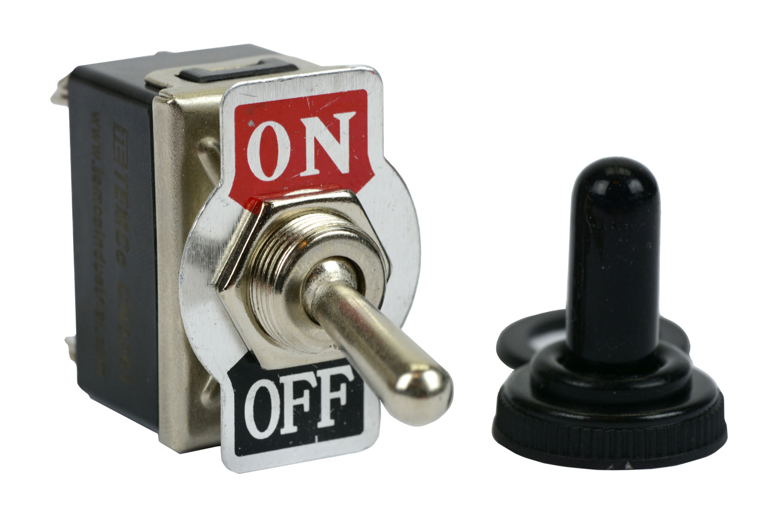temco 20a 125v on off dpst 4 terminal toggle switch w. Black Bedroom Furniture Sets. Home Design Ideas