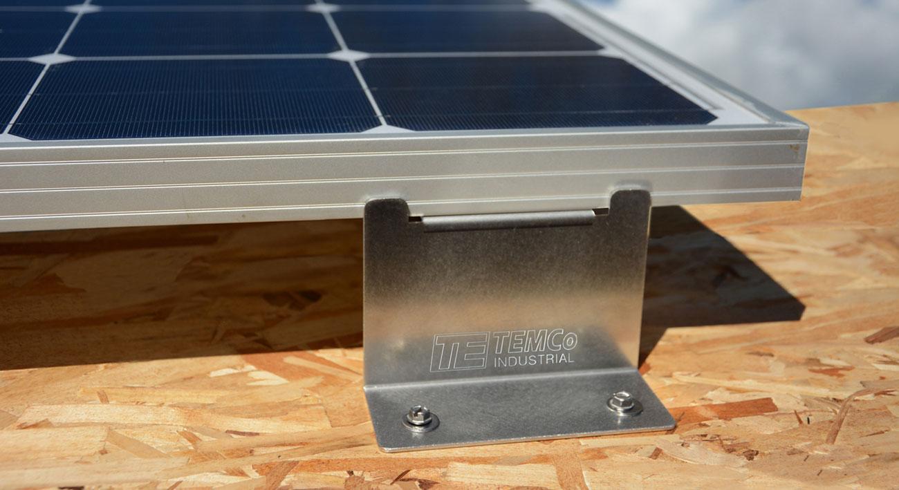 New Temco Solar Panel Mounting Z Bracket Stainless Steel