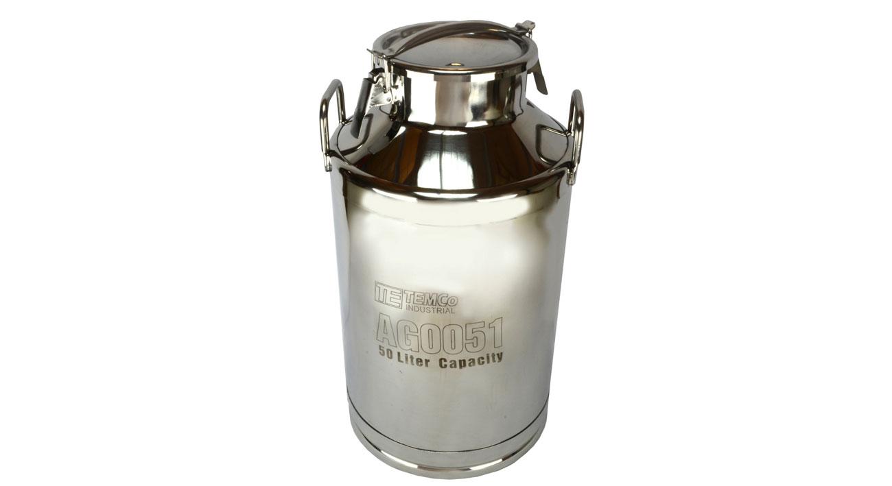 temco 50 liter gallon stainless steel milk can wine. Black Bedroom Furniture Sets. Home Design Ideas