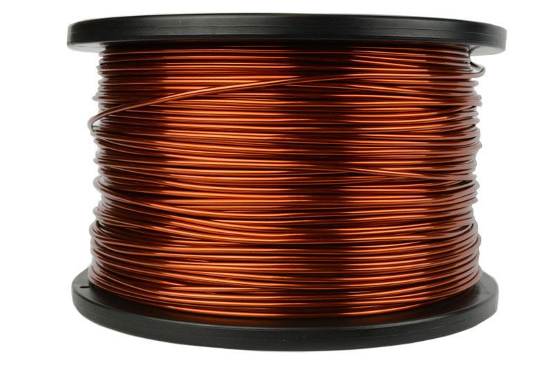 Temco magnet wire 14 awg gauge enameled copper 5lb 395ft 200c coil temco id mw0125 gauge 14 awg conductor solid round copper 999 pure weight 5 lb length approx 396 ft insulation temp rating 200c 392f greentooth Gallery