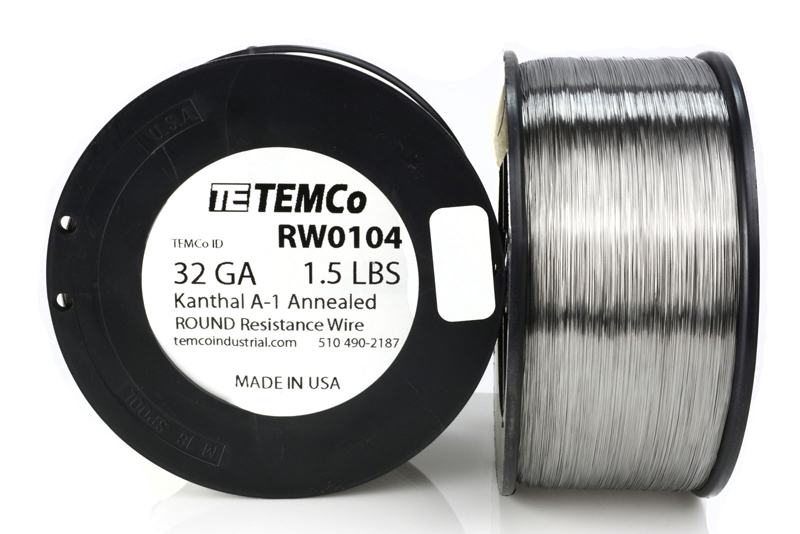 Resistance AWG A-1 ga 3236 ft TEMCo Kanthal A1 wire 32 Gauge 8 oz